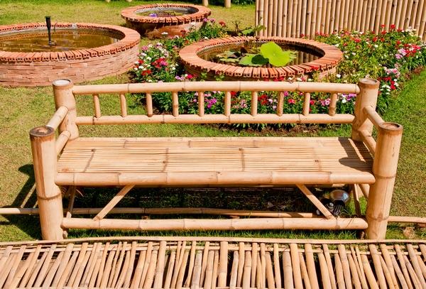 Ławka ogrodowa z bambusa