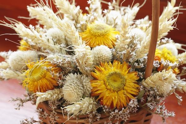 Bukiet z kwiatów suszonych