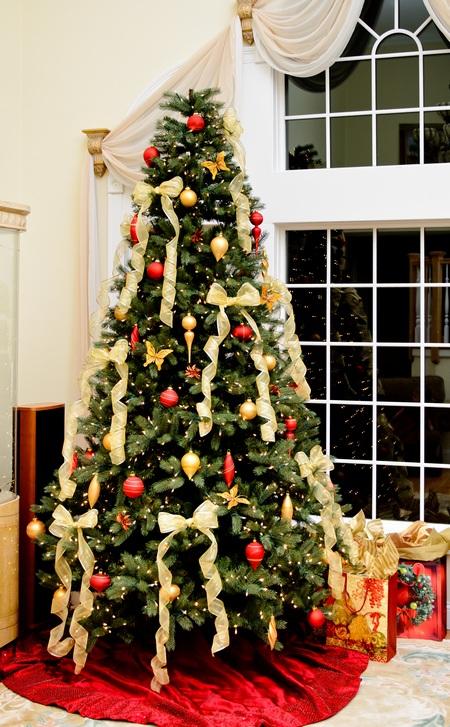 Drzewko świąteczne- przepiękne kokardy