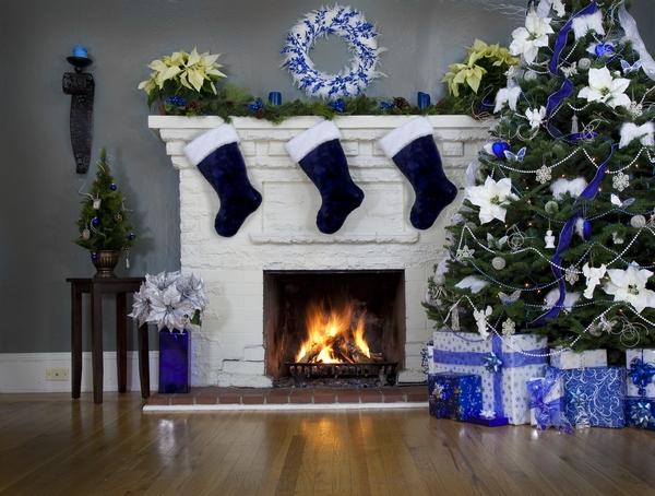 Drzewko świąteczne w barwach nieba
