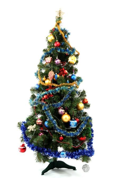 Drzewko świąteczne w barwach tęczy