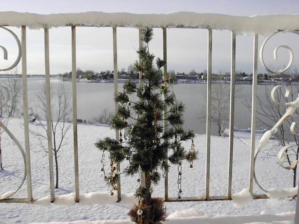 Zima na balkonie