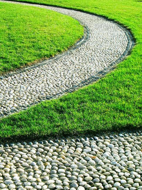 Żwirowa scieżka ogrodowa