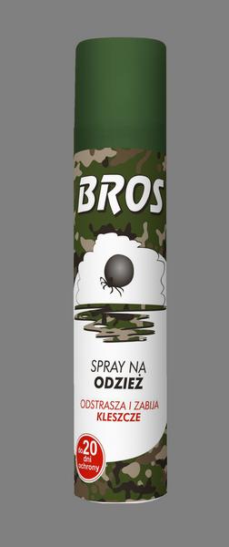 BROS – Spray na odzież. Odstrasza i zabija kleszcze