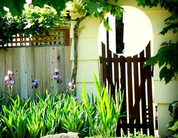Furtka w ogrodzie