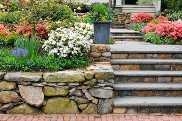 Kamienie dekoracyjne - schody