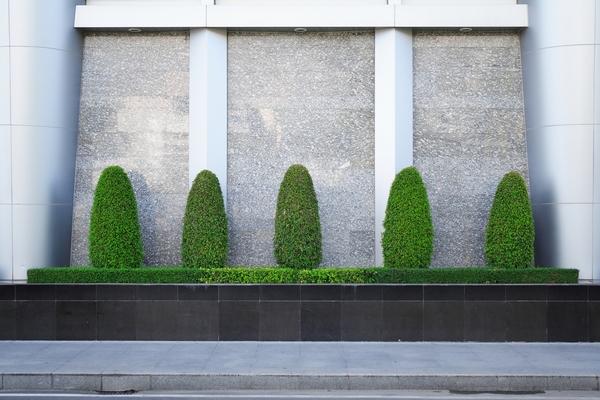 Murowane donice ogrodowe